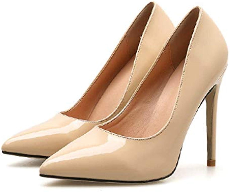 HBDLH Scarpe da Donna Punto Slim Tallone Tallone Tallone Semplice Elegante 11Cm Tacco Alto Soprascarpe Scarpe da Donna Albicocca 39 | Online Store  e9cb73