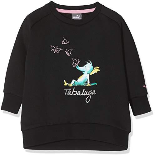 Puma Mädchen Tabaluga - Girls Crew Sweat Sweatshirt Cotton Black 98 Preisvergleich