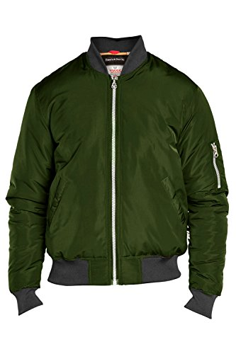 Gilet Hommes D555 Duke Grand King Size MA1 Harrington Imperméable Matelassé Hiver Khaki - GREGORY