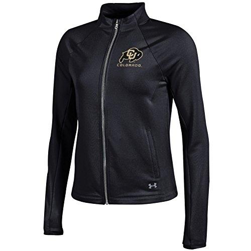 Under Armour Damen Rückseite NCAA French Terry Full Zip Jacke, Damen, Terry Back Full-Zip Jacket, schwarz Terry Zip Jacket