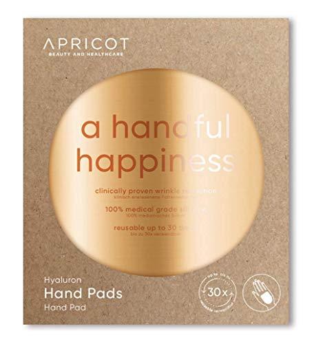 APRICOT® Hand Pads mit hochwirksamem Hyaluron! Glatte und gepflegte Hände über Nacht! 30 x wiederverwendbar - made in Germany - das ORIGINAL mit Hyaluron! German Innovation Award Winner 2019!