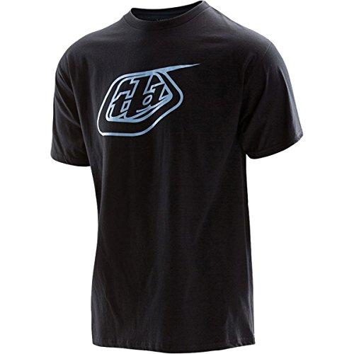 Troy Lee Designs T-Shirt Logo Schwarz/Hellblau Schwarz