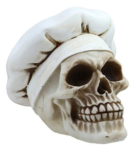 Ebros Gift The Head Chef Skull Skulptur Profi Cook Skelett Gruselige Figur (Dead Mario Halloween)