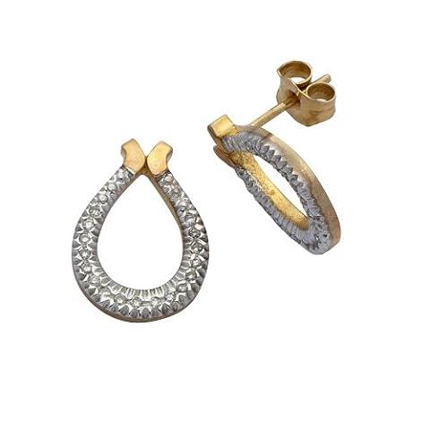 Adara 9 ct Yellow Gold Diamond Horseshoe