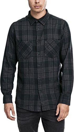 Urban Classics Hemd Checked Flanell Shirt 2 Homme, Multicolore (Charcoal/Schwarz), (Taille Fabricant: Medium)