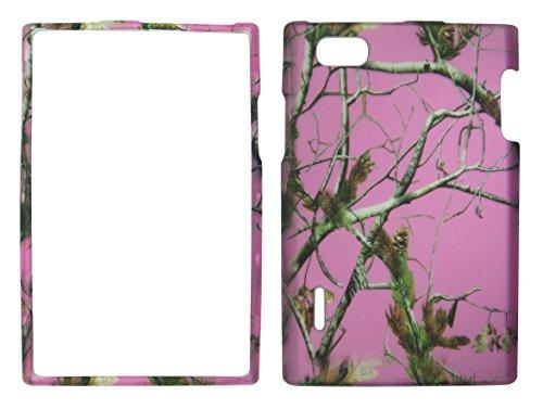 2D Pink Camo Realtree LG Intuition VS950, Optimus Vu F100S Verizon Fall Hard Handy Snap auf Cover Fall Displayschutzfolie (Verizon Handys Lg Wireless)