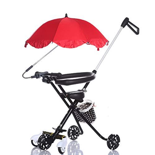 Cochecito de bebé, GUO 5 Ruedas PrevencióN De Vuelco del Triciclo para NiñOs 1-4-7 AñOs Carro De...