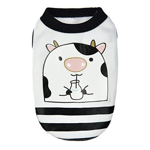 PZSSXDZW Pet Kleidung Süße Milchhundekleidung Kleiner Welpe Deer Dog Kleidung Mini-Hundekleidung White Medium