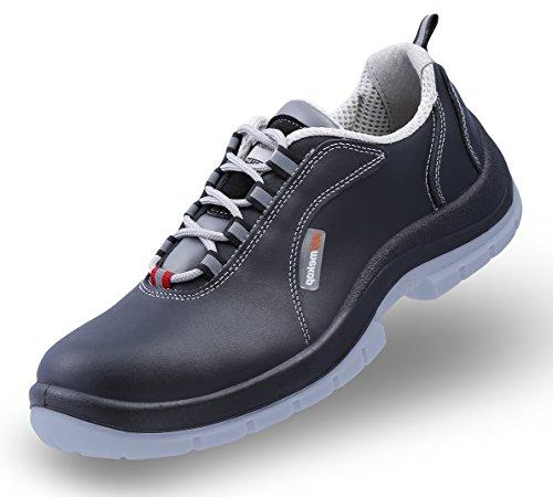 Mekap Ranger Atlas ATP S2 - Unisex Erwachsene Arbeits & Sicherheitsschuhe S2 SRC ESD Safety Shoes Footwear Leder Stahlzwischensohle, Farbe:Glattleder Schwarz;Schuhsize:41