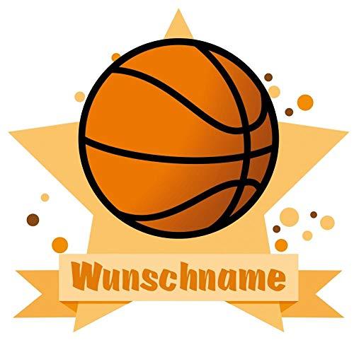 Samunshi® Basketball Aufkleber mit Namen Autoaufkleber Namensaufkleber Kinder in 7 Größen (10x8,8cm Mehrfarbig) -