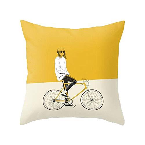 Cojín decorativo amarillo