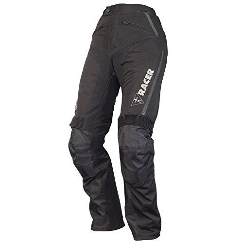 #Racer EASY STRETCH Damen Motorradhose Touring Textil Std/kurz – schwarz Größe K5XL#