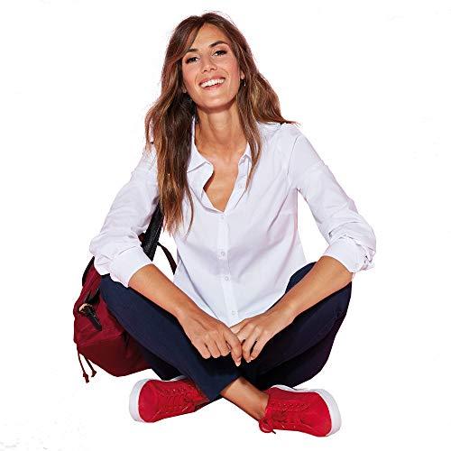 VENCA Pantalón de Cintura elástica con Bolsillos Mujer by Vencastyle - 029555,Azul Marino,38