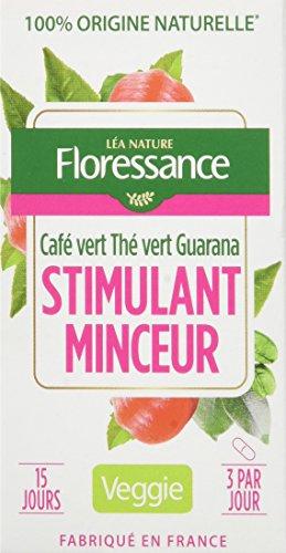 Floressance Phytothérapie Végétale Stimulant Minceur Café Vert / Thé Vert / Guarana 45 Gélules Lot de 3