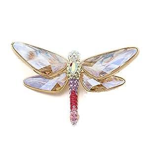 Swarovski Damen-Broschen Vergoldetes Metall Tilly PVD gold 1181335