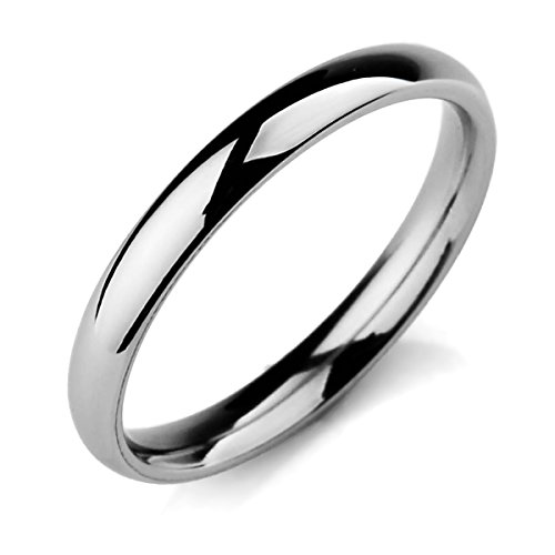 MunkiMix Ancho 3mm Acero Inoxidable Banda Venda Anillo Ring El Tono De Plata Alianzas Boda Talla Tamaño 20 Hombre,Mujer
