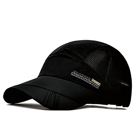 SLBGADIEME Quick Drying Lightweight Breathable Soft Sports Outdoor Running Cap Baseball Hat Fishing Cap(Classic series,Black)
