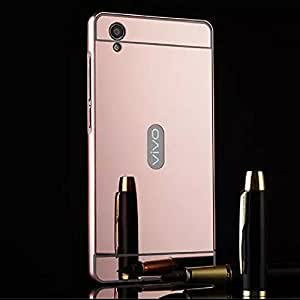 Mobi Fashion Mirror Back Cover With Side Bumper For Vivo Y51 - Rose Gold