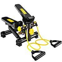 Marshal Fitness Step Air Climber Stepper Twister Aerobic Fitness Exercise Machine with Resistance Band