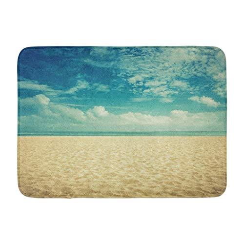 chenbiaoku Sonnenschein Sonnenstrand Vintage Look Sand America rutschfeste Fußmatte Indoor Outdoor Decor Fußmatte Küche Boden Teppich Haustürmatte Lustige Gummi Unterlegmatte 23,6x15,7 Zoll