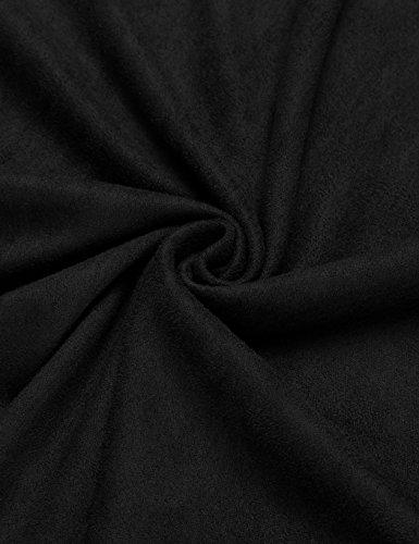 cooshional Damen Kleider Minikleider Sommerkleider A Line Ärmellos Sexy Grau Schwarz Braun Schwarz