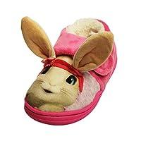 Socks Uwear Peter Rabbit Girls Lily Bobtail Touch & Close Full Slippers