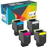 Do it Wiser 4 Cartouches de Toner XL Compatibles pour Lexmark CX410de CX410dte CX410e CX510de CX510dew CX510dhe CX510dthe | 80C2HK0 80C2HC0 80C2HM0 80C2HY0