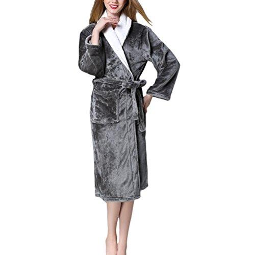 Zhuhaitf Hi-Quality Mens Womens Plus Size Fleece Morgenmantel Bath Robe Wrap Spa Supersoft Housecoat (Womens Plus Size Roben)