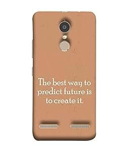 Fuson Designer Back Case Cover for Lenovo K6 (Words Sayings Quotations Future)