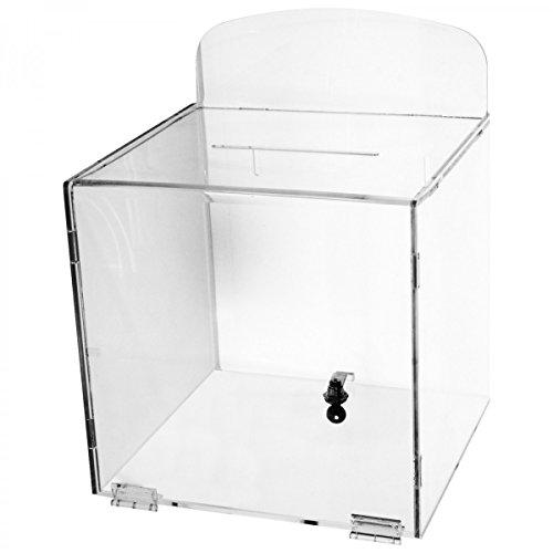 Avà srl Urna da Parete in plexiglass Trasparente - Misure: 30x30x H 30 cm