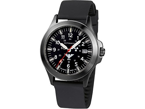 KHS Mens Watch Black Platoon Automatic KHS.BPA.SB