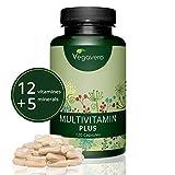 17 Multivitamines + Oligo-éléments | 120 Gélules | Vitamines B1, B2, B3, B5, B6, B7, B9, B12 + C + D3 + E + K2 + Chrome + Fer + Zinc + Iode + Sélénium | Vegavero | Vegan
