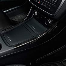 2 tiras de decoración para consola central de fibra de carbono cromado para Benz A/