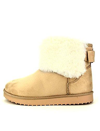 Cendriyon Boots Beige Fourrées UTGA Chaussures Femme