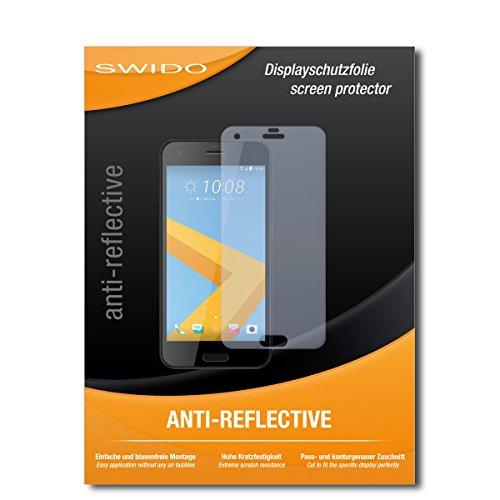SWIDO Schutzfolie für HTC One A9s [2 Stück] Anti-Reflex MATT Entspiegelnd, Hoher Härtegrad, Schutz vor Kratzer/Bildschirmschutz, Bildschirmschutzfolie, Panzerglas-Folie