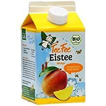 TeeFee Bio Eistee Mango, 8er Pack (8 x 500ml) | zuckerfrei | ohne Kalorien | kalter Tee für Klein und Groß