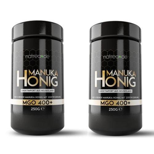 Natrea Manuka Honig im hochwertigen Violettglass | MGO 400+  Direktimport aus Neuseeland...