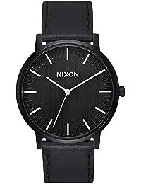 Nixon Reloj Analogico para Unisex de Cuarzo con Correa en Cuero  A1199-2345-00 0e8cd4b14faf