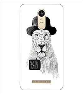 PrintDhaba Lion Sketch D-1060 Back Case Cover for XIAOMI REDMI NOTE 3 (Multi-Coloured)