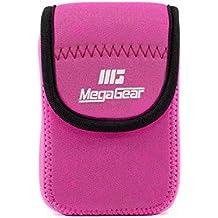 MegaGear mg1279Ultra luz Funda de Neopreno con mosquetón para Nikon Coolpix W300/AW130/Ricoh WG-30W/WG-50–Cámara–Rosa