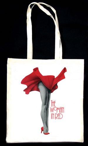 La donna in rosso borsa