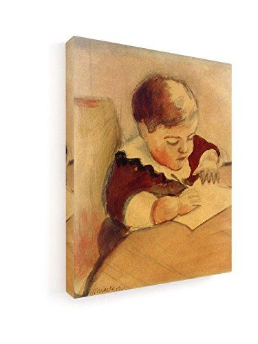 r, am Tisch malend - 20x25 cm - Leinwandbild auf Keilrahmen - Wand-Bild - Kunst, Gemälde, Foto, Bild auf Leinwand - Alte Meister / Museum (Kunst-tisch Für Kleinkinder)