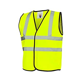Uneek Childrens Hi-Viz Waist Coat - 2 Colours Available (7 - 9 Years, Yellow)