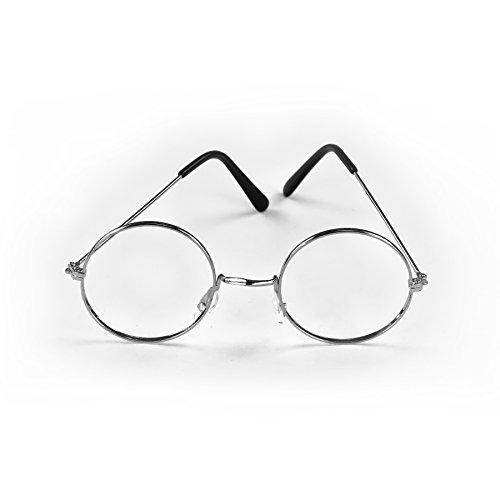 Verkleiden Kostüm Oma - Oblique Unique Brille Rund Oma Opa ohne Gläser Silber Verkleiden Weihnachtsmann Nikolaus