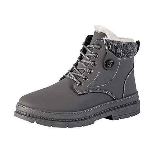 S&H-NEEDRA Chaussures Hommes, Hommes Chaussures Hiver, Bottines, Chaussures De Travail, Bottes De Velours Martin