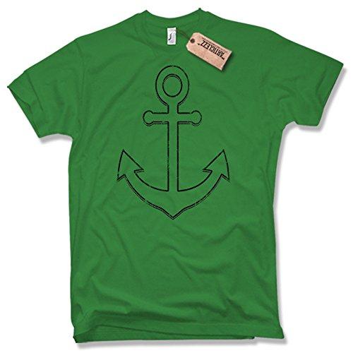 SAILOR ANCHOR T-Shirt, ANKER, verschiedene Farben, Gr. S - XXL Grün / Green