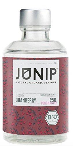 JUNIP Organics - natürliches Bio Aroma (Cranberry), 250 ml Flasche für 50 Gläser Wasser