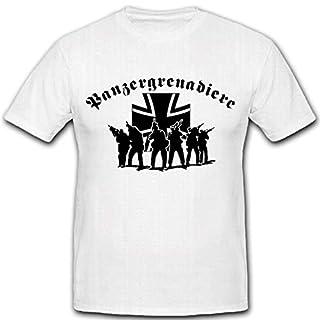 Panzergrenadiere PzGren Elite Militär Bundeswehr Einheit Einsatz War - T Shirt #2627, Größe:Herren M, Farbe:Weiß