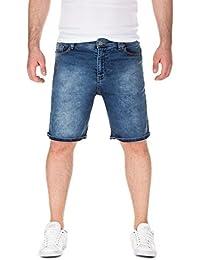 Yazubi Herren Sweat Shorts Naava - Bermuda aus Sweat in Jeans-Optik