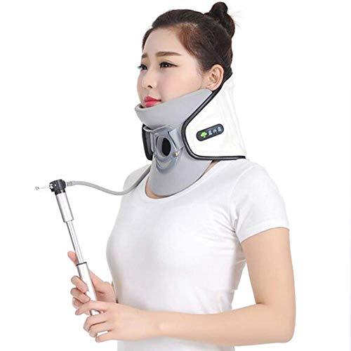 NINEZ Standard-Halswirbelsäule-Schutz von aufblasbaren Nackenstrecker mit Pumpe-Unterstützung der Halsstütze-Nackenschmerzen lindern - weiß - Kompressions-pumpe-therapie